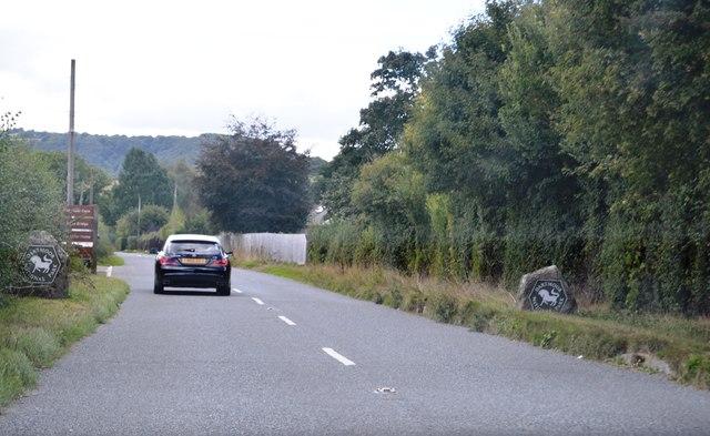 B3212 entering Dartmoor National Park
