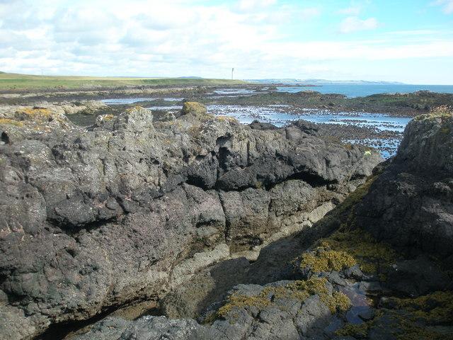 Lava flows near Sillo Craig