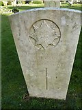 TQ3355 : Caterham Cemetery:CWGC grave (ix) by Basher Eyre