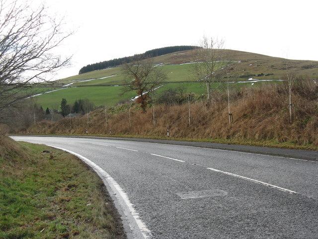The A7 northwest of Galashiels