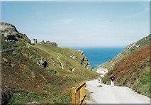 SX0588 : To castle and coast - Tintagel, Cornwall by Martin Richard Phelan