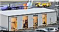 J3775 : Car valeting shed, Belfast City Airport (January 2017) by Albert Bridge