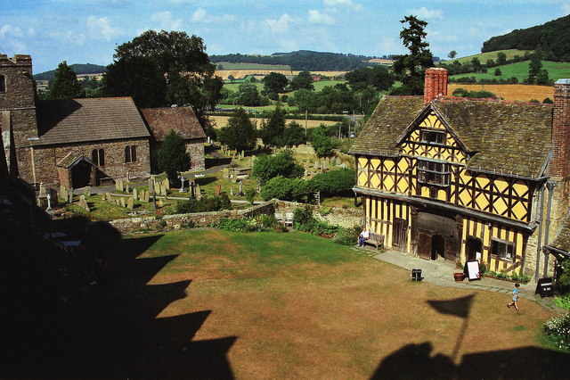 The Courtyard of Stokesay Castle