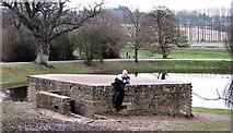 TQ7825 : Shelter at Bodiam Castle by Patrick Roper