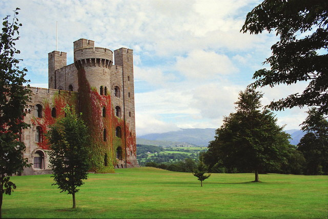 The grounds of Penrhyn Castle