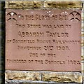SD8801 : Stone laid by Abraham Taylor by Gerald England