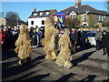 TL2697 : The three bears dancing - Whittlesea Straw Bear Festival 2017 by Richard Humphrey