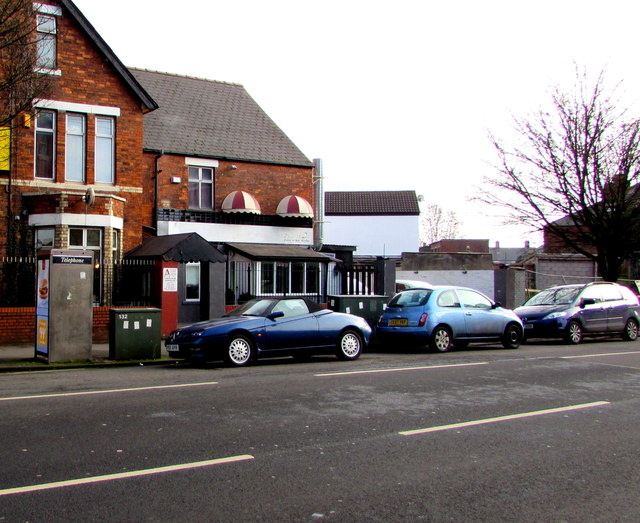 Phonebox and telecoms cabinets, Corporation Road, Newport