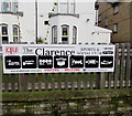ST3188 : The Clarence Sports & Social Club activities banner, Newport by Jaggery