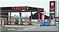 J4973 : Texaco petrol station, Newtownards (January 2017) by Albert Bridge