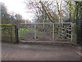 SE2118 : Metal gates, Newhall Lane by Stephen Craven