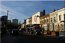 TQ3186 : Gillespie Road and Arsenal tube station by Christopher Hilton