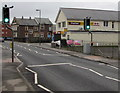 ST2391 : Pelican crossing, St Mary Street, Risca by Jaggery