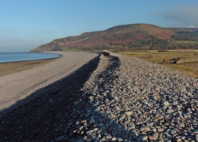 Pebble ridge on Bossington Beach