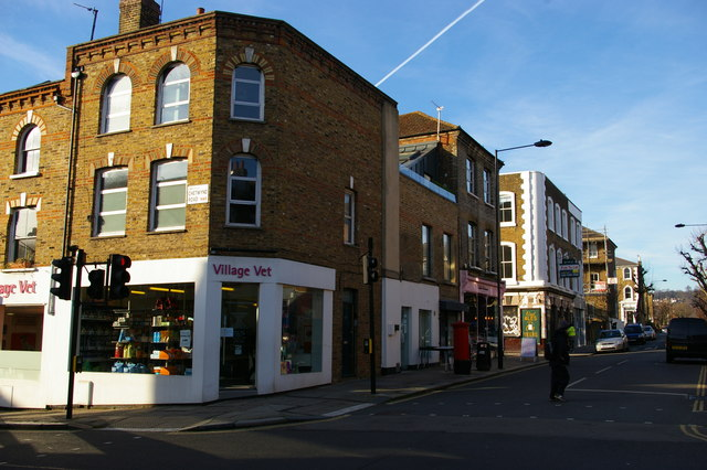 Looking up York Rise from Chetwynd Road, Kentish Town