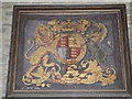 SO9253 : Royal Coat of Arms, Churchill church by Philip Halling