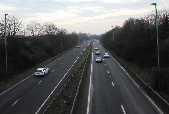 A38 from Quedgeley towards Hardwicke