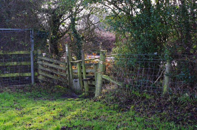 Stile on North Worcestershire Path, near Forhill, Worcs