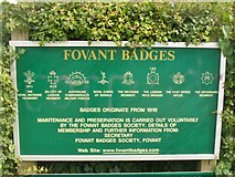 SU0128 : Fovant Badges by Colin Smith