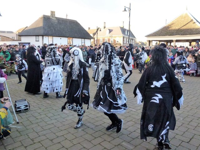 Pig Dyke Molly on The Market Place - Whittlesea Straw Bear Festival 2017
