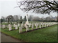 TL9923 : Second World War War Graves in Colchester cemetery by Adrian S Pye