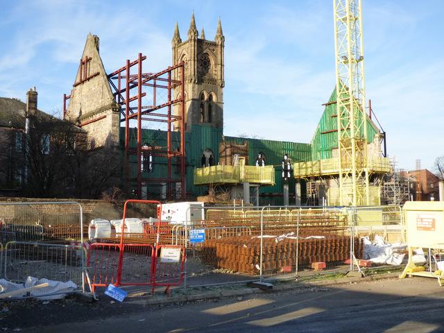 Construction on Dumbarton Burgh Hall site
