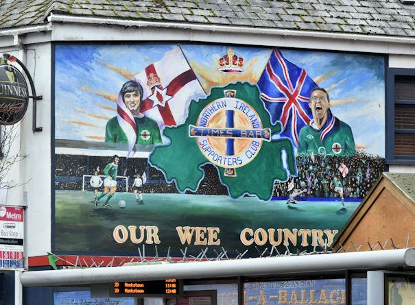 northern ireland football mural  york     u00a9 albert bridge