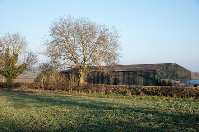 Corrugated metal barn east of Ingleton