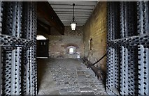 TR3752 : Deal Castle: Main entrance, looking through its massive doors by Michael Garlick