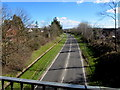 SN5200 : A484 on the southeast side of a footbridge, Llanelli by Jaggery