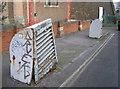 ST6071 : Sagging ventilators in School Road by Neil Owen