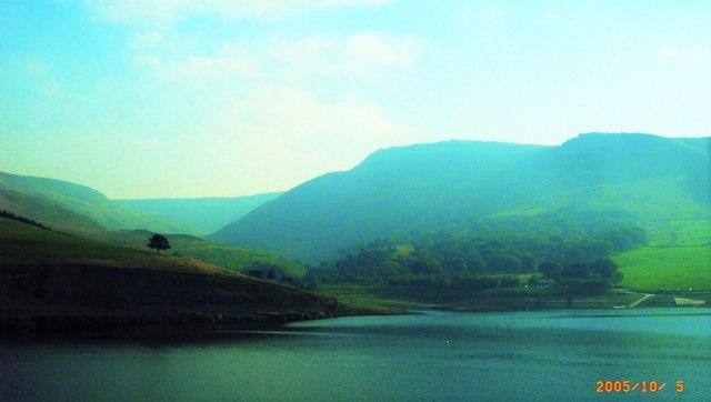 Indians Head viewed from Dovestones Reservoir