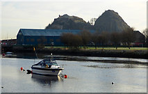 NS3975 : The River Leven at Dumbarton by Thomas Nugent