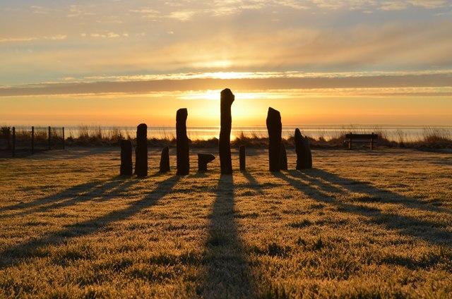 Winter Sunrise at Golspie Stone Circle