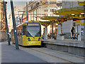 SJ8398 : Exchange Square Tram Stop, Corporation Street by David Dixon