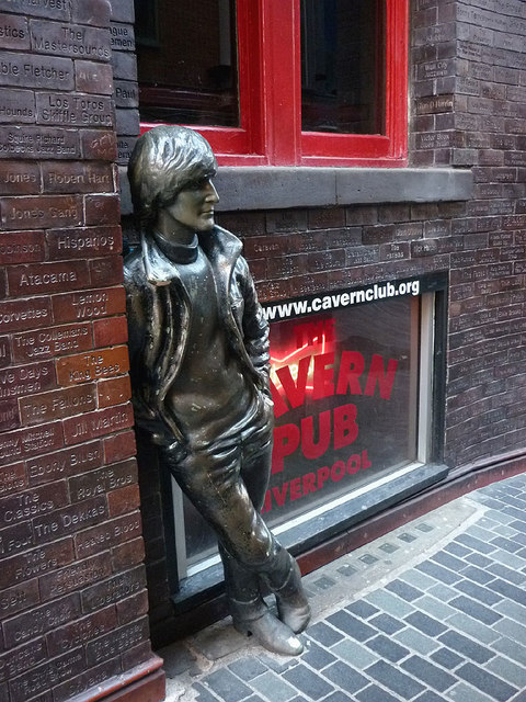 The John Lennon statue, Mathew Street, Liverpool