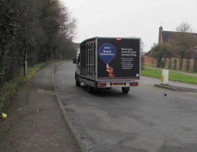 Tesco home deliveries van in Hardwicke
