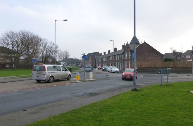 Roundabout on A193 in Blyth