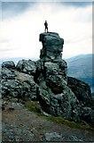 NN2505 : The Cobbler (centre peak) by Raibeart MacAoidh