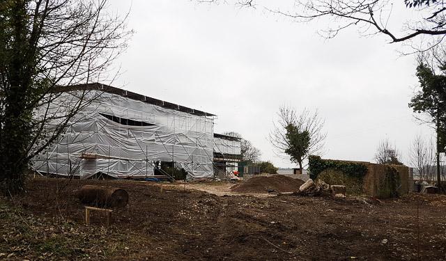 Hydes Barn under conversion