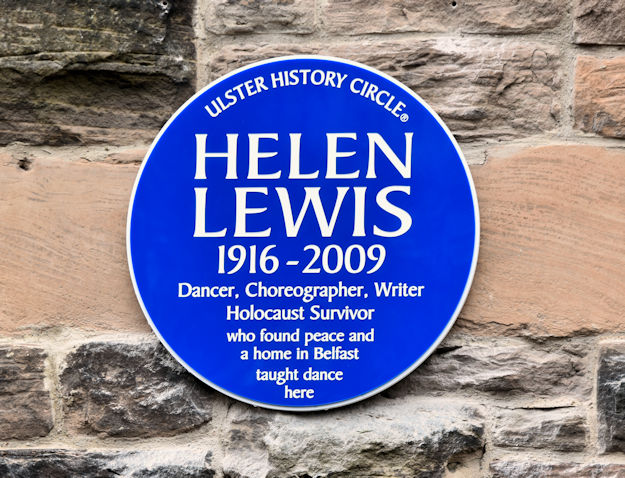 Helen Lewis plaque, Belfast (January 2017)