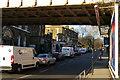 TQ2885 : Looking under the railway bridge, Highgate Road by Christopher Hilton