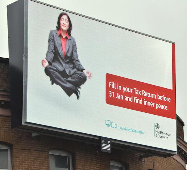 Inland Revenue digital advertisement, Belfast (January 2017)