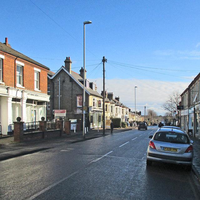Down Cherry Hinton Road