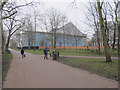 TQ2579 : Design Museum, view from path in Holland Park by David Hawgood