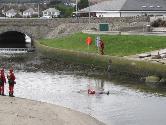 Water rescue exercise in the Shimna Estuary