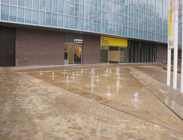 Design Museum fountain and entrance
