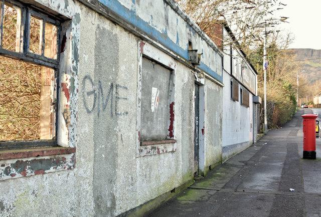 Derelict buildings, Shore Road/Gray's Lane, Belfast - January 2017(3)