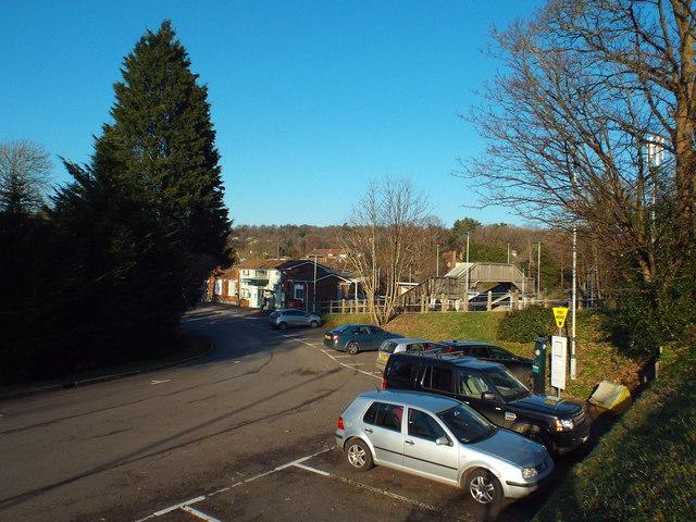 Hurst Green station forecourt