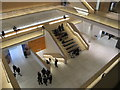 TQ2579 : Design Museum, seating on staircase from ground floor  by David Hawgood